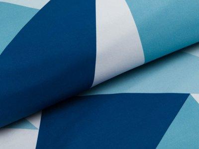 Softshell Jackenstoff Swafing Fiete - geometrische Muster - blau