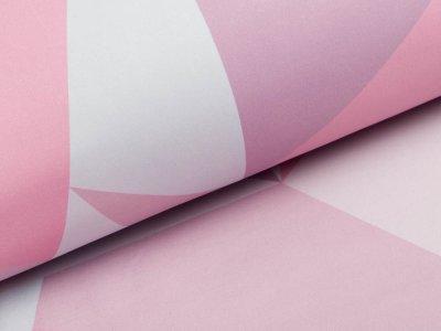 Softshell Jackenstoff Swafing Fiete - geometrische Muster - altrosa