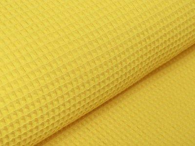 Waffelpiqué Baumwolle - Waffeloptik - uni gelb