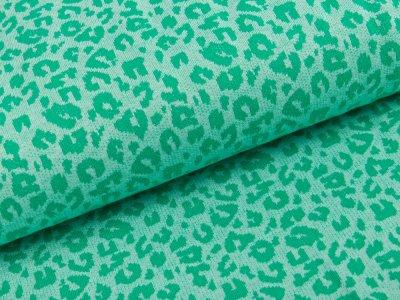 Jersey Jacquard - Leopardenmuster - grün