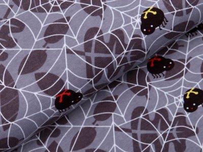 Jersey - gefährliche Spinnen im Spinnennetz - grau