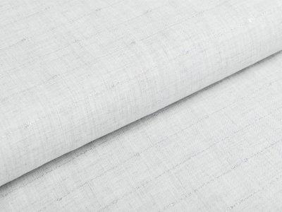 Viskose Webware mit Glitzerstreifen - meliert grau