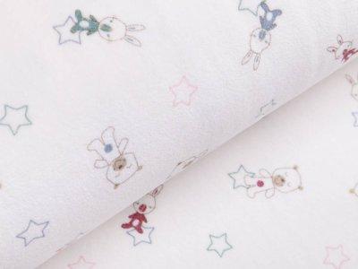 Nicki - Babyhasen und Bären mit Sterne - wollweiß