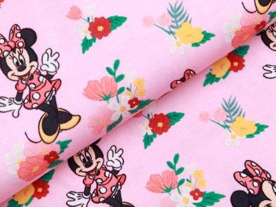 Jersey Digitaldruck Micky Mouse - erfreute Mini - rosa