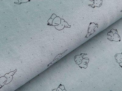 Nicki - Babyelefanten und Punkte - altmint