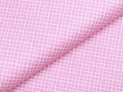 Webware Baumwolle - kleine Rauten - rosa