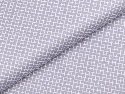 Webware Baumwolle - kleine Rauten - grau