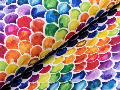 Jackenstoff Softshell - aquarelle Fischschuppen - bunt