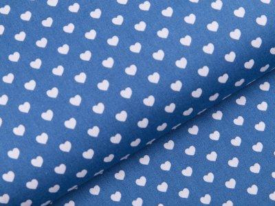 Webware Baumwolle Popeline - Herzen - jeansblau