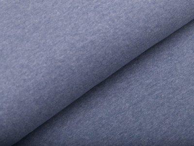 Glattes Bündchen im Schlauch - meliert jeansblau