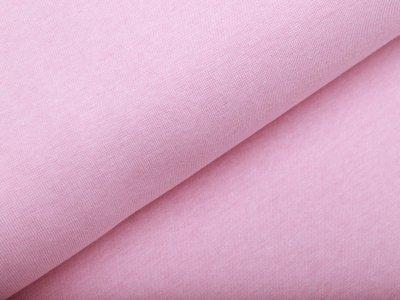 Glattes Bündchen im Schlauch - meliert rosa