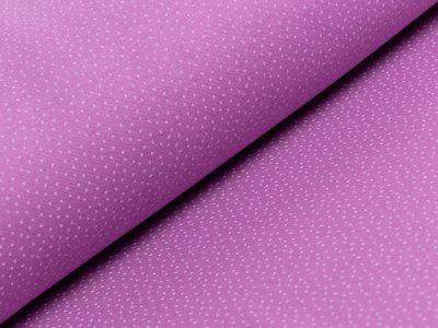 Interlock-Jersey - Punkte - lila