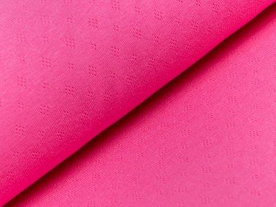 Interlock - Pointoille Lochmuster - uni pink