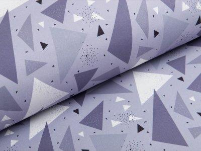 Softshell Jackenstoff Swafing Fiete - geometrische Muster - grau