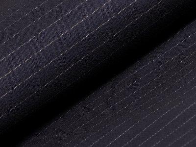 Hosen-Jackenstoff - zarte Nadelstreifen - dunkles nachtblau