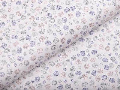 Webware Popeline Baumwolle - gemusterte Punkte - weiß