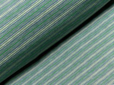 Jersey - Streifen - grün