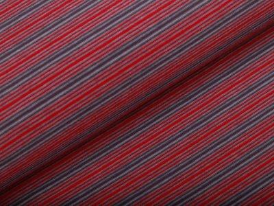 Single Jersey - feine Streifen - rot