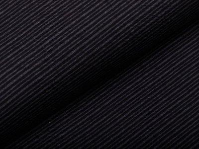 Single Jersey - dünne Streifen - anthrazit