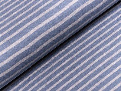 Interlock - Streifen - blau