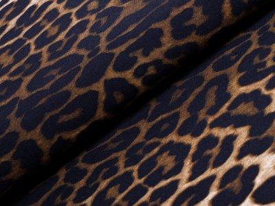 Hosen-Jackenstoff - Animalprint - braun