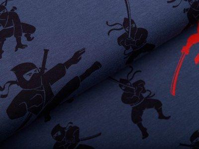 Jersey by Mies&Moos - Ninjas - rauchblau