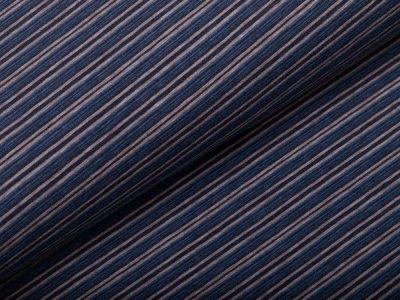 Single Jersey - feine Streifen - blau