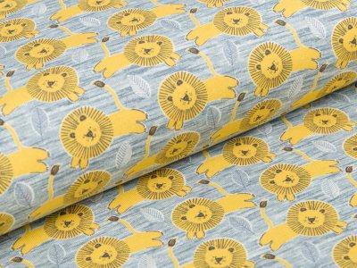 Jersey Swafing Little King - Löwenkinder - meliert grau/gelb