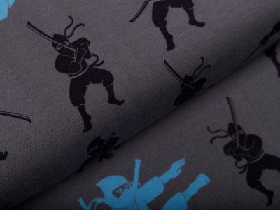 Jersey by Mies&Moos - Ninjas - grau