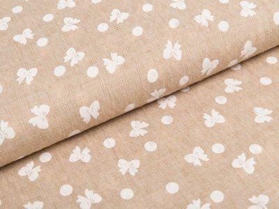 Gewebte Baumwolle - Schleifen und Punkte - schlamm