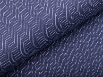 Interlock-Jersey - Zickzack Muster - jeansblau