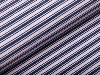 Single Jersey - Streifen - rosa/blau