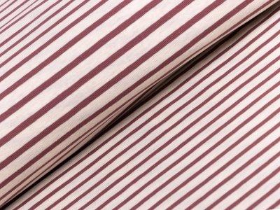 Single Jersey - Streifen - braun