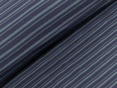 Single Jersey - Streifen - khaki