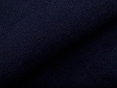Wellnessfleece Teddyplüsch - uni nachtblau