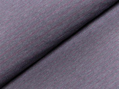 Single Jersey - Streifen - dunkles grau