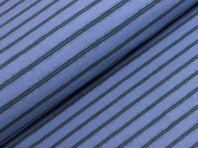 Single Jersey - Streifen - jeansblau