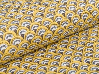 Jersey Swafing Little King - gemusterte Berge - gelb