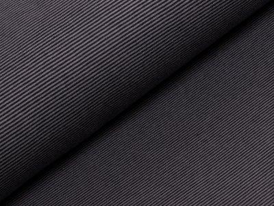 Interlock bedruckt - Ringel - grau/schwarz