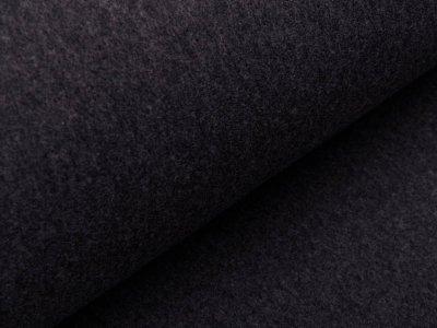 Baumwollfleece Organic Cotton - meliert grau
