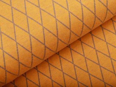 Jersey Jacquard Swafing Cozy Collection by Lycklig Design - Rauten - ocker