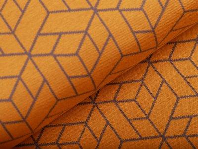 Jersey Jacquard Swafing Cozy Collection by Lycklig Design - Geometrik - ocker