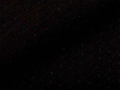 Jersey Strickstoff mit Glitzerfäden - Lochstickerei Broderie -  meliert schwarz