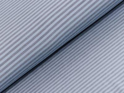 Sportstoff - feine Streifen - blau/grau