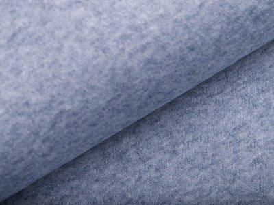 Jersey Strickstoff - meliert blau