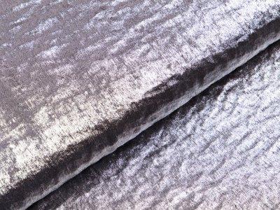 Webware Baumwollsatin Metallic - silberfarben