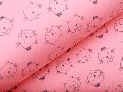 Jersey - Katzen - rosa