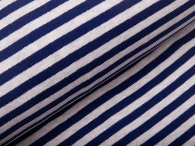 Jersey - Streifen - weiß/blau