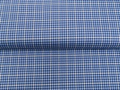 Single Jersey - Karo/Vichy - blau