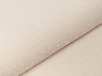 Wellnessfleece Teddyplüsch - uni helles beige
